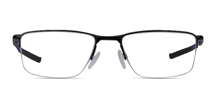 Oakley Socket 5.5 Satin Black & Blue Metal Eyeglass Frames from EyeBuyDirect