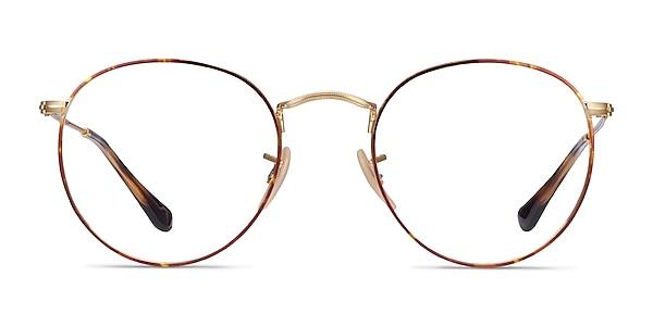 Ray-Ban RB3447V Tortoise & Gold Metal Eyeglass Frames
