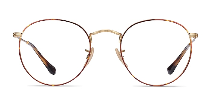 Ray-Ban RB3447V Tortoise & Gold Metal Eyeglass Frames from EyeBuyDirect