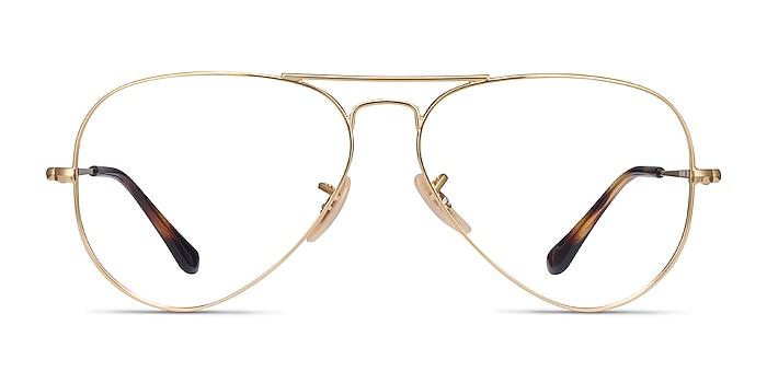 Ray-Ban RB6489 Gold Metal Eyeglass Frames from EyeBuyDirect