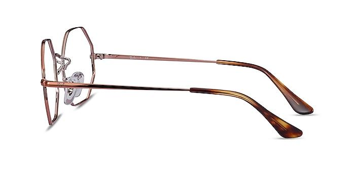 Ray-Ban Octagon Bronze Metal Eyeglass Frames from EyeBuyDirect