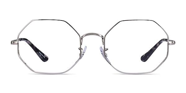 Ray-Ban Octagon Silver Metal Eyeglass Frames