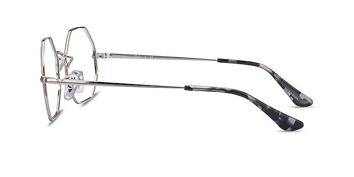 Ray-Ban Octagon Silver Metal Eyeglass Frames from EyeBuyDirect