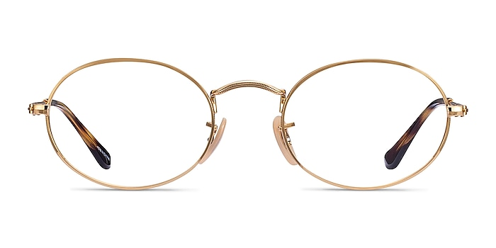 Ray-Ban RB3547V Gold Metal Eyeglass Frames from EyeBuyDirect