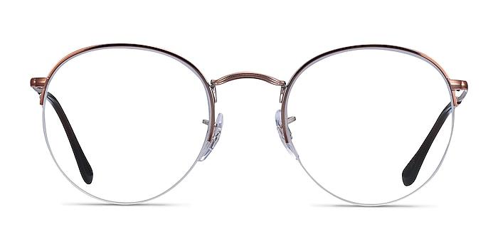 Ray-Ban RB3947V Bronze Copper Metal Eyeglass Frames from EyeBuyDirect
