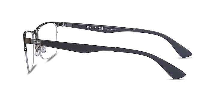 Ray-Ban RB6335 Gunmetal Metal Eyeglass Frames from EyeBuyDirect