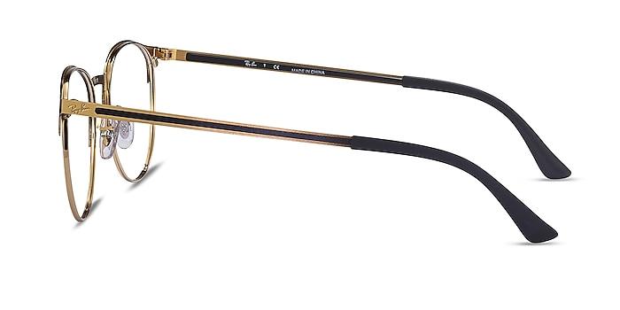 Ray-Ban RB6375 Black Gold Metal Eyeglass Frames from EyeBuyDirect