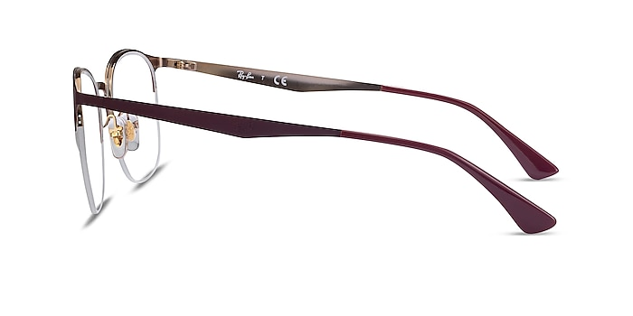 Ray-Ban RB6422 Bordeaux Gold Metal Eyeglass Frames from EyeBuyDirect