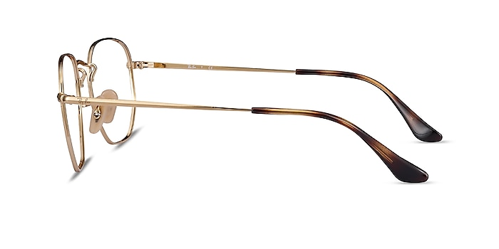 Ray-Ban RB6448 Gold Metal Eyeglass Frames from EyeBuyDirect