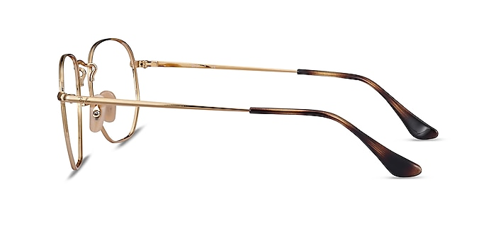 Ray-Ban RB6448 Tortoise Gold Metal Eyeglass Frames from EyeBuyDirect