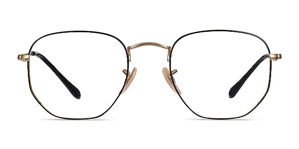 Ray-Ban RB6448 Black Gold Metal Eyeglass Frames