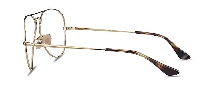 Ray-Ban RB6489 Tortoise Gold Metal Eyeglass Frames from EyeBuyDirect
