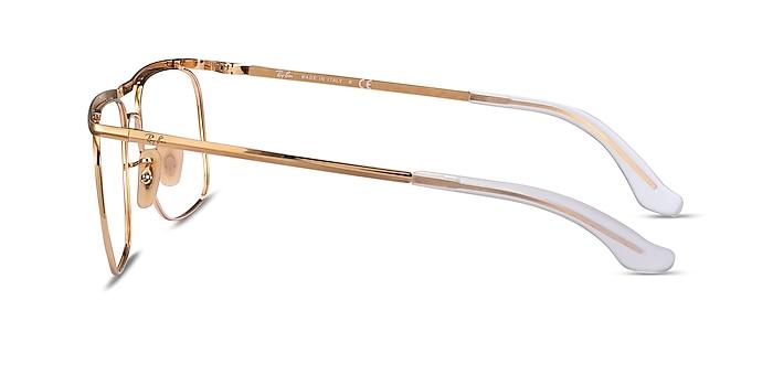 Ray-Ban RB6519 Gold Metal Eyeglass Frames from EyeBuyDirect