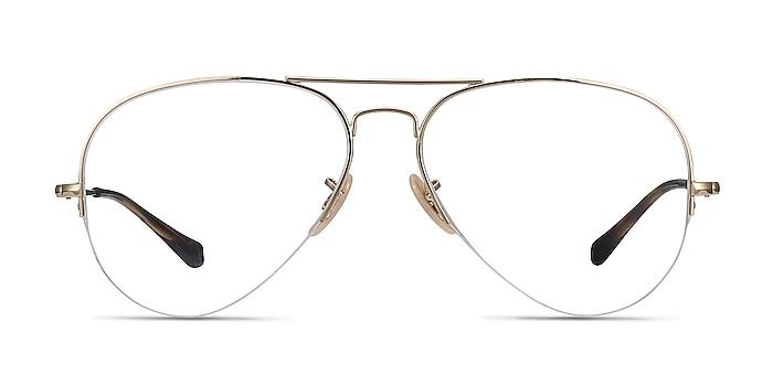 Ray-Ban RB6589 Gold Metal Eyeglass Frames from EyeBuyDirect