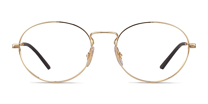 Ray-Ban RB6439 Gold Metal Eyeglass Frames from EyeBuyDirect