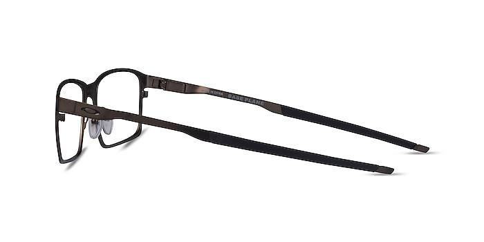 Oakley Base Plane Gunmetal Metal Eyeglass Frames from EyeBuyDirect
