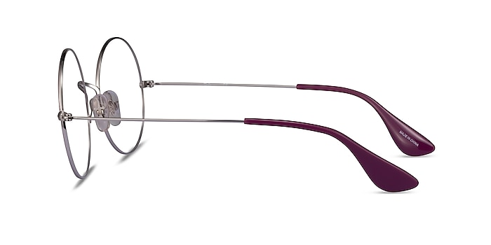 Ray-Ban RB6392 Purple Silver Metal Eyeglass Frames from EyeBuyDirect
