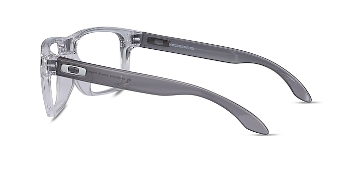 Oakley Holbrook Rx Polished Clear & Gray Plastic Eyeglass Frames from EyeBuyDirect