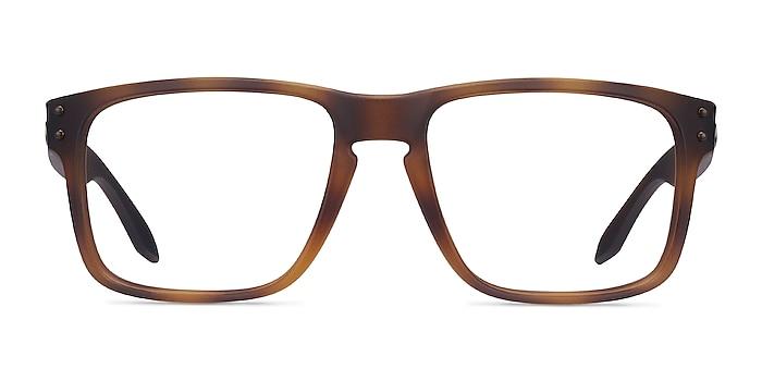 Oakley Holbrook Rx Matte Brown Tortoise Plastic Eyeglass Frames from EyeBuyDirect