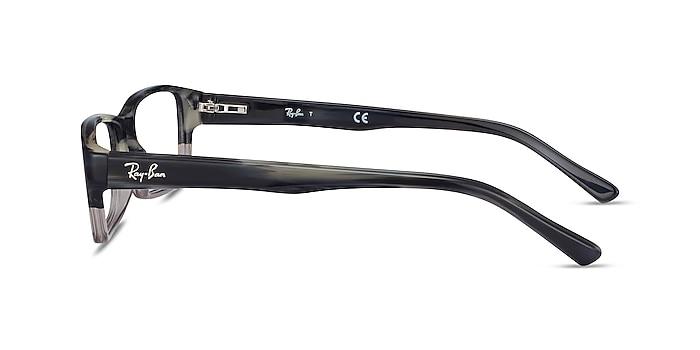 Ray-Ban RB5169 Black & Gray Acetate Eyeglass Frames from EyeBuyDirect