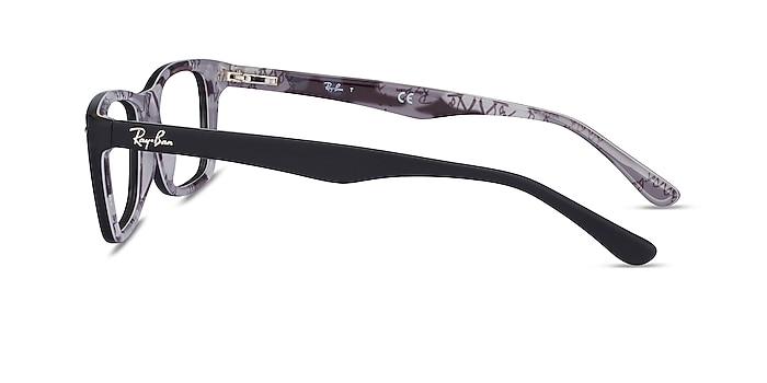 Ray-Ban RB5228 Black & Gray Acetate Eyeglass Frames from EyeBuyDirect