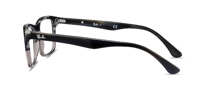 Ray-Ban RB5279 Black & Gray Acetate Eyeglass Frames from EyeBuyDirect