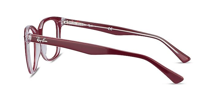Ray-Ban RB5285 Burgundy Acetate Eyeglass Frames from EyeBuyDirect