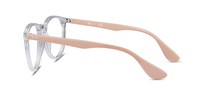 Ray-Ban RB7046 Clear & Pink Beige Plastic Eyeglass Frames from EyeBuyDirect