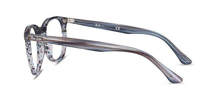 Ray-Ban RB7159 Blue Plastic Eyeglass Frames from EyeBuyDirect