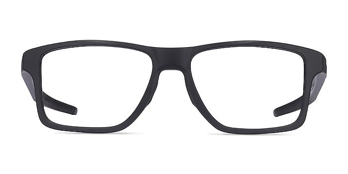 Oakley Chamfer Squared Satin Black Plastic Eyeglass Frames from EyeBuyDirect
