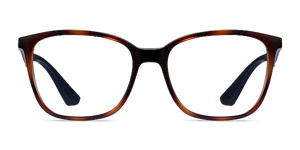 Ray-Ban RB7066 Tortoise Blue Plastic Eyeglass Frames