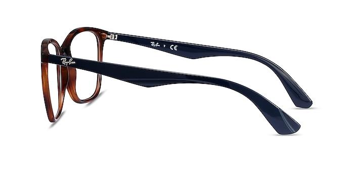 Ray-Ban RB7066 Tortoise Blue Plastic Eyeglass Frames from EyeBuyDirect