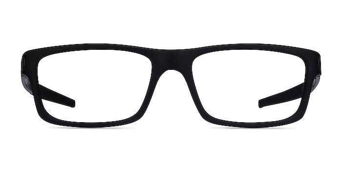Oakley Currency Satin Black Plastic Eyeglass Frames from EyeBuyDirect