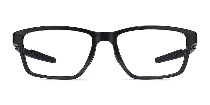 Oakley Metalink Satin Black Plastic Eyeglass Frames from EyeBuyDirect