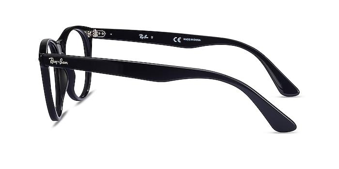 Ray-Ban RB2185V Black Acetate Eyeglass Frames from EyeBuyDirect