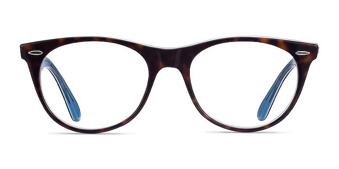 Ray-Ban RB2185V Tortoise Blue Acetate Eyeglass Frames from EyeBuyDirect