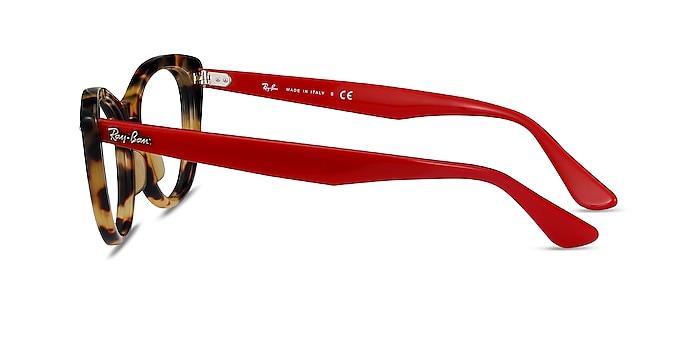 Ray-Ban Nina Tortoise Red Acetate Eyeglass Frames from EyeBuyDirect