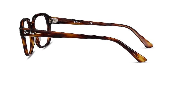 Ray-Ban RB5382 Striped Havana Acetate Eyeglass Frames from EyeBuyDirect