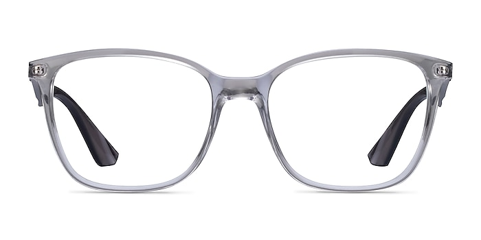 Ray-Ban RB7066 Clear Gray Plastic Eyeglass Frames from EyeBuyDirect