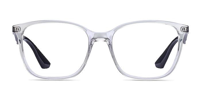 Ray-Ban RB7066 Clear Black Plastic Eyeglass Frames from EyeBuyDirect
