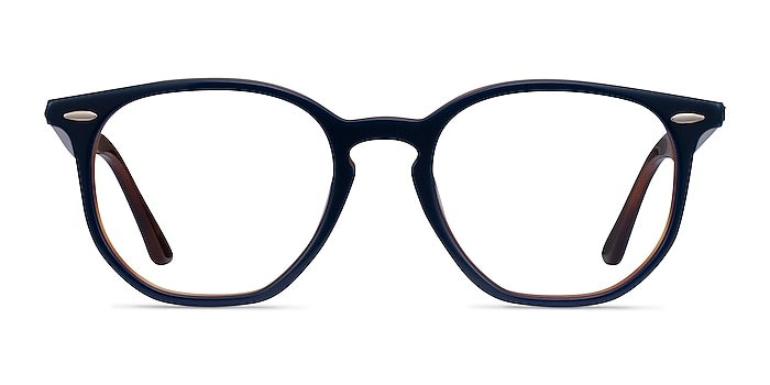 Ray-Ban RB7151 Blue Tortoise Acetate Eyeglass Frames from EyeBuyDirect