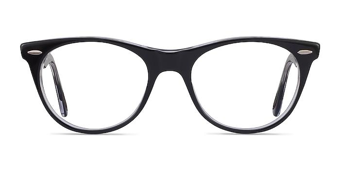 Ray-Ban RB2185V Black Clear Acetate Eyeglass Frames from EyeBuyDirect
