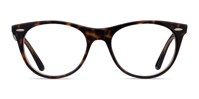 Ray-Ban RB2185V Leopard Acetate Eyeglass Frames from EyeBuyDirect