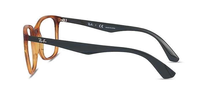 Ray-Ban RB7066 Tortoise & Green Plastic Eyeglass Frames from EyeBuyDirect