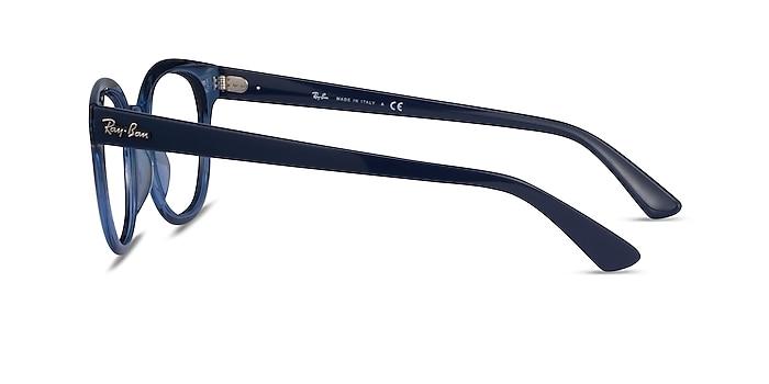 Ray-Ban RB4324V Clear Blue Acetate Eyeglass Frames from EyeBuyDirect