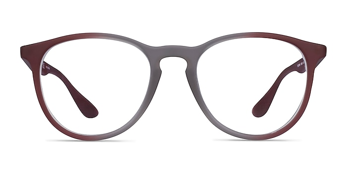 Ray-Ban RB7046 Gray Red Plastic Eyeglass Frames from EyeBuyDirect