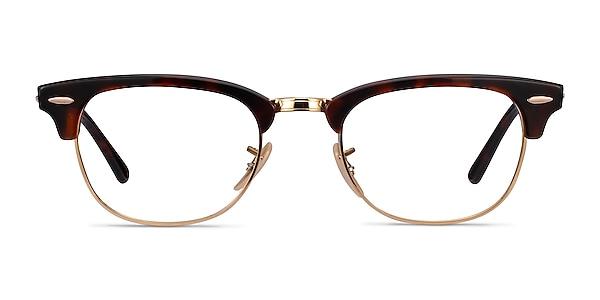 Ray-Ban RB5154 Gold Tortoise Acetate-metal Eyeglass Frames