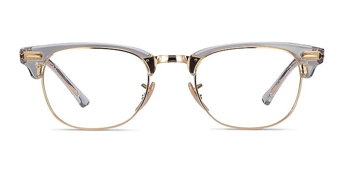 Ray-Ban RB5154 Gold Transparent Acetate-metal Eyeglass Frames from EyeBuyDirect