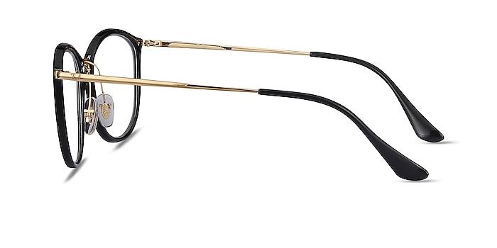 Ray-Ban RB7140 Black Gold Plastic-metal Eyeglass Frames from EyeBuyDirect