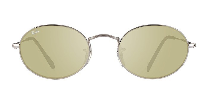 Ray-Ban RB3547 Silver Gray Metal Sunglass Frames from EyeBuyDirect